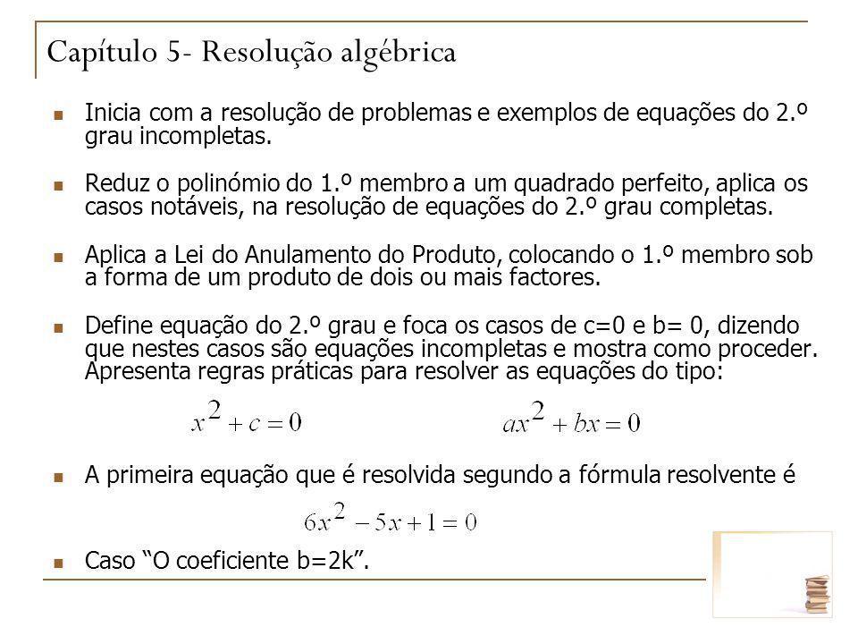 Capítulo 5- Resolução algébrica
