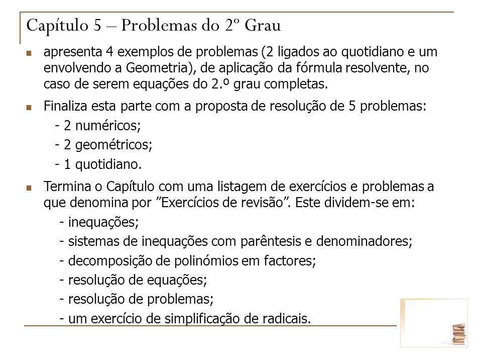 Capítulo 5 – Problemas do 2º Grau