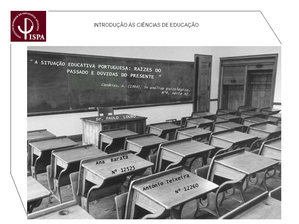 INTRODUÇÃO ÁS CIÊNCIAS DE EDUCAÇÃO
