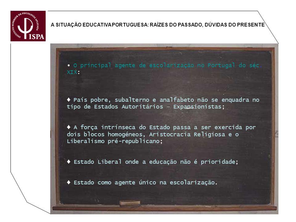 ∙ O principal agente de escolarização no Portugal do séc. XIX: