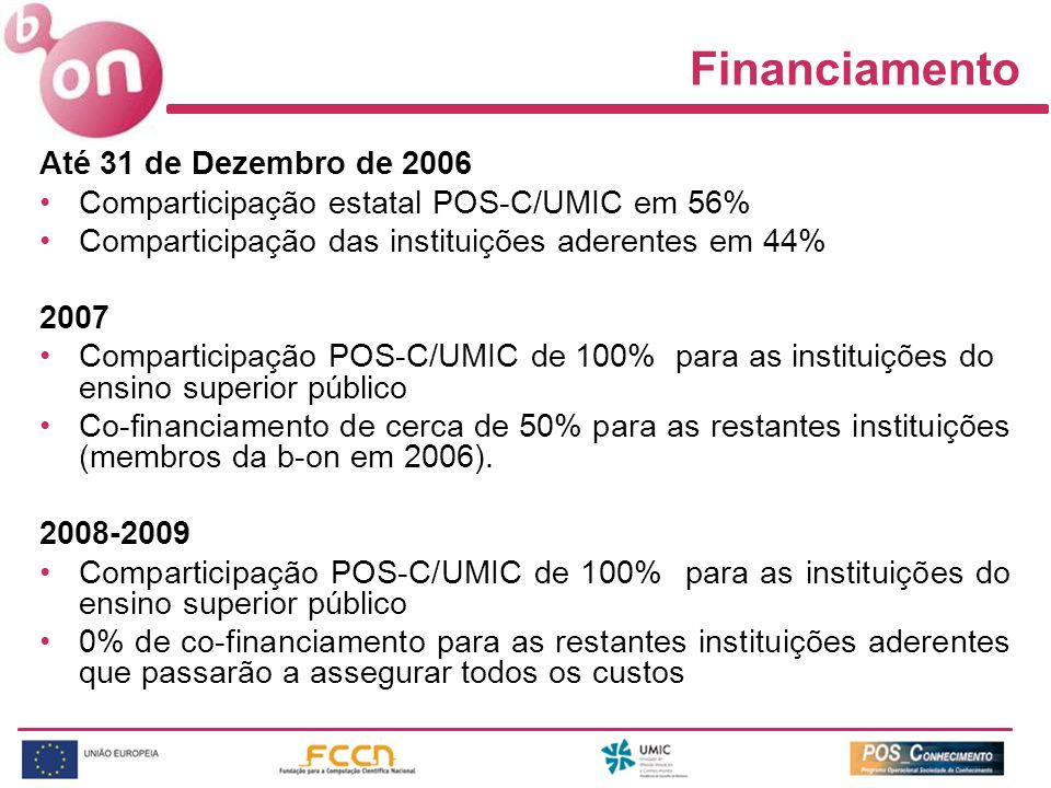 Financiamento Até 31 de Dezembro de 2006