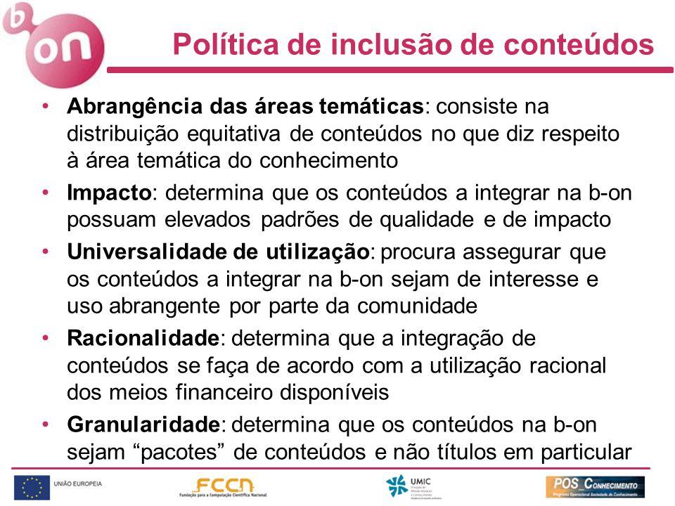 Política de inclusão de conteúdos