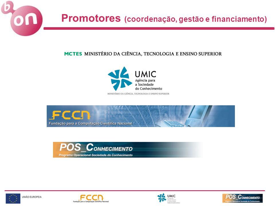 Promotores (coordenação, gestão e financiamento)