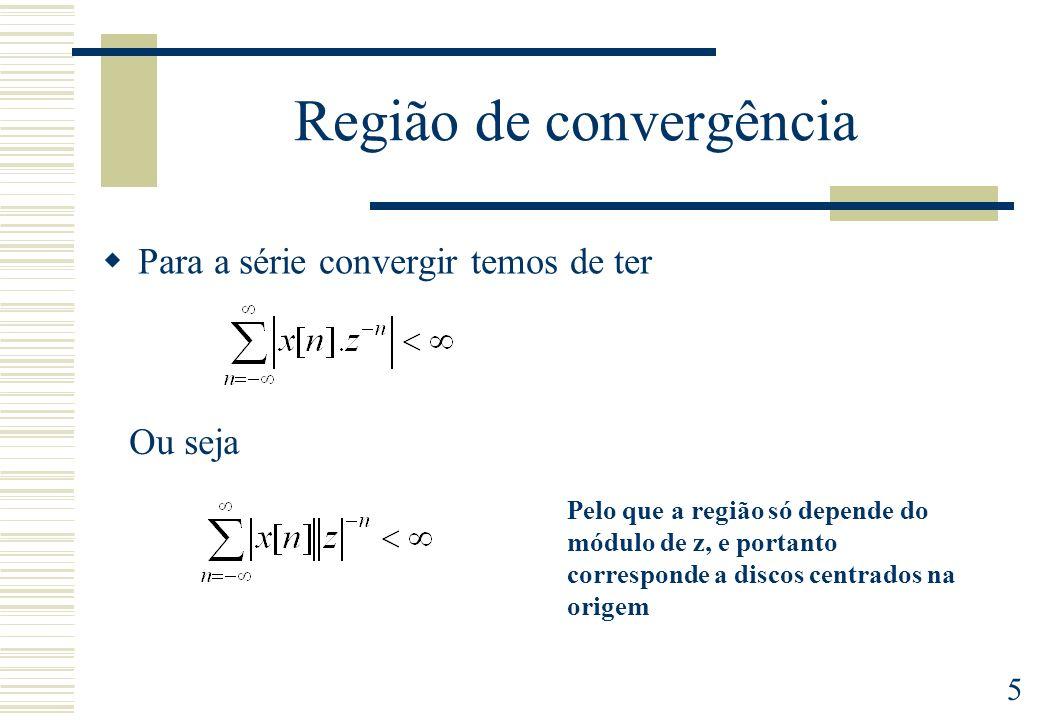 Região de convergência