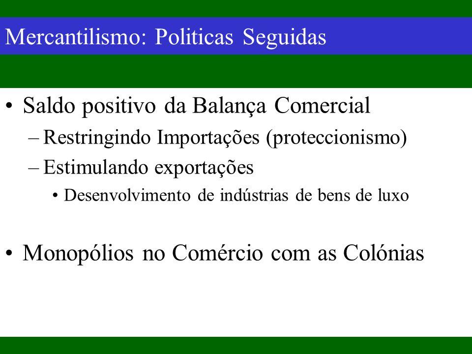 Mercantilismo: Politicas Seguidas