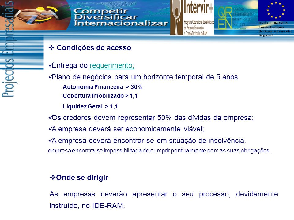 Entrega do requerimento;