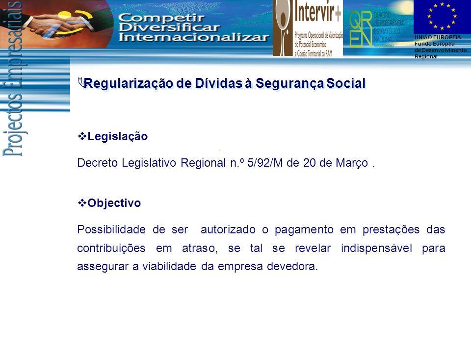 Regularização de Dívidas à Segurança Social