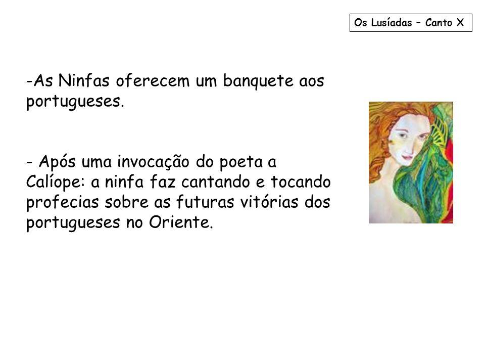 As Ninfas oferecem um banquete aos portugueses.