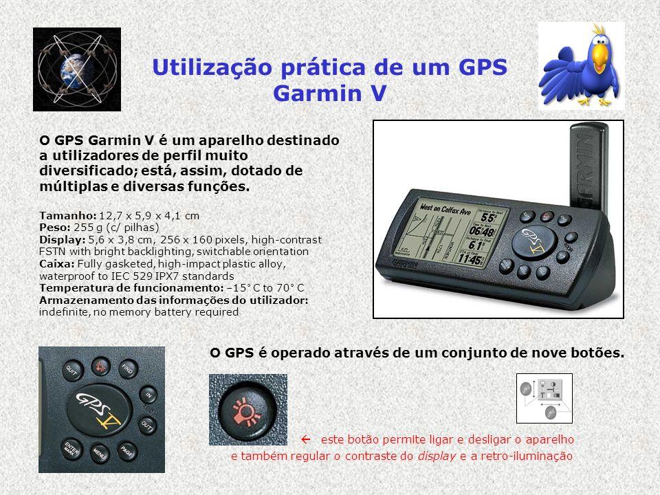 Utilização prática de um GPS Garmin V