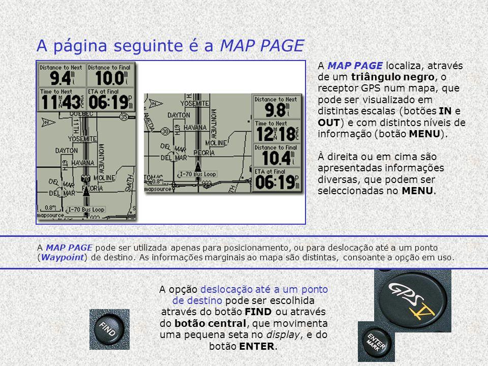 A página seguinte é a MAP PAGE