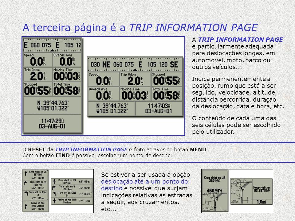 A terceira página é a TRIP INFORMATION PAGE