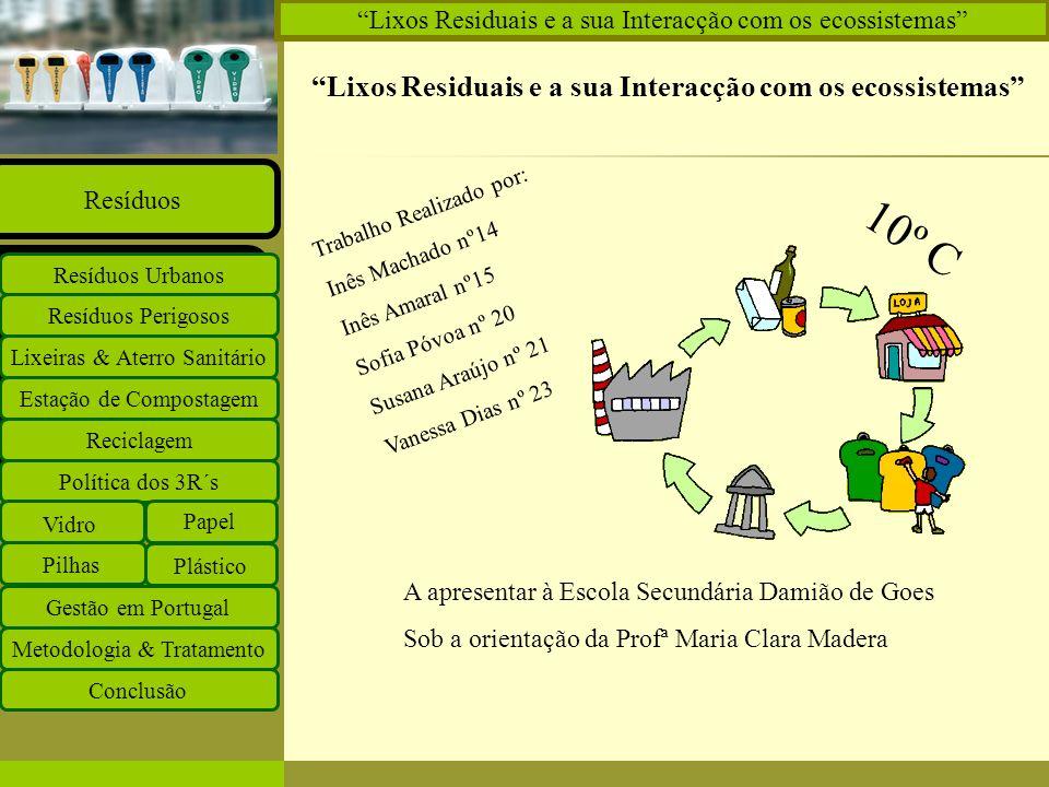 10º C Lixos Residuais e a sua Interacção com os ecossistemas