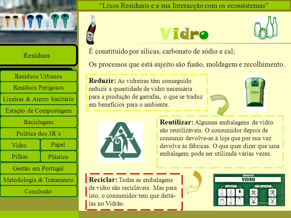 Vidro Lixos Residuais e a sua Interacção com os ecossistemas