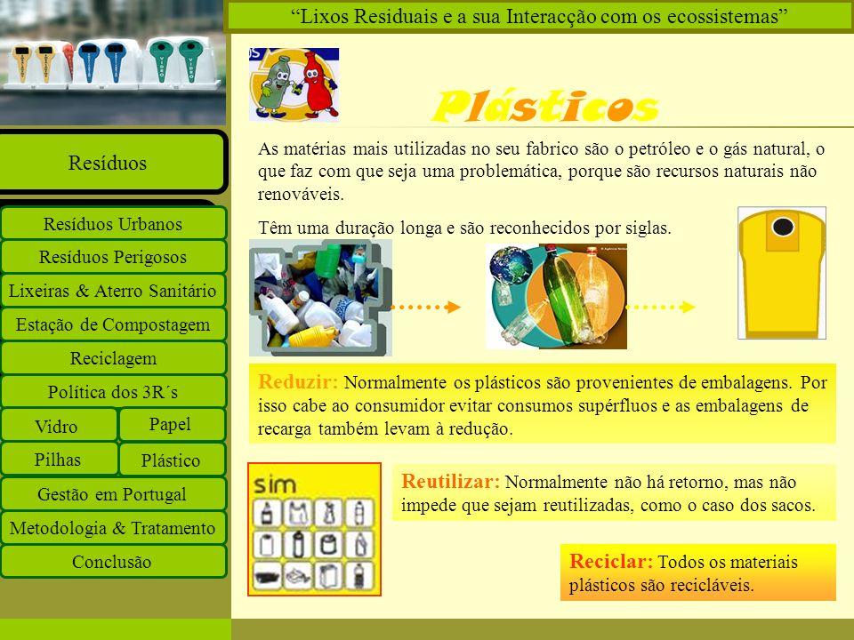 Plásticos Lixos Residuais e a sua Interacção com os ecossistemas