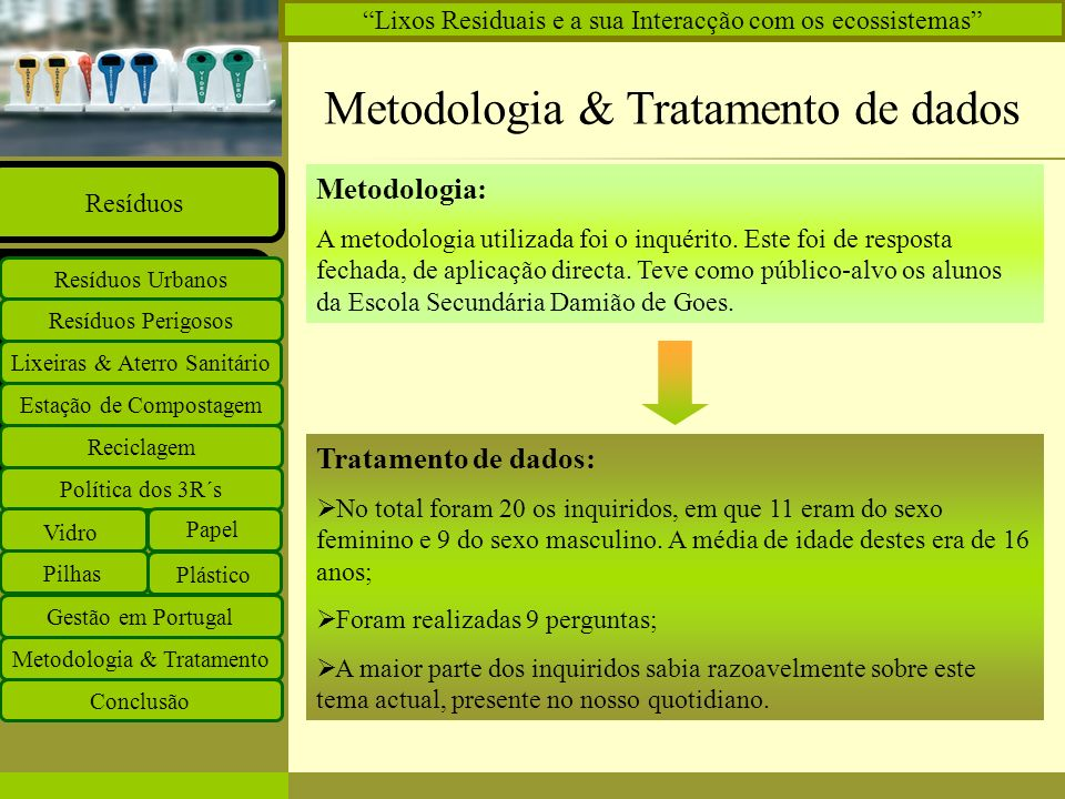 Metodologia & Tratamento de dados