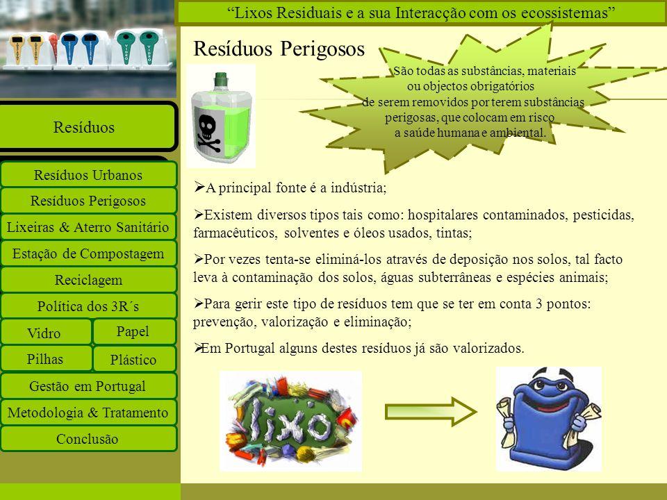 Lixos Residuais e a sua Interacção com os ecossistemas