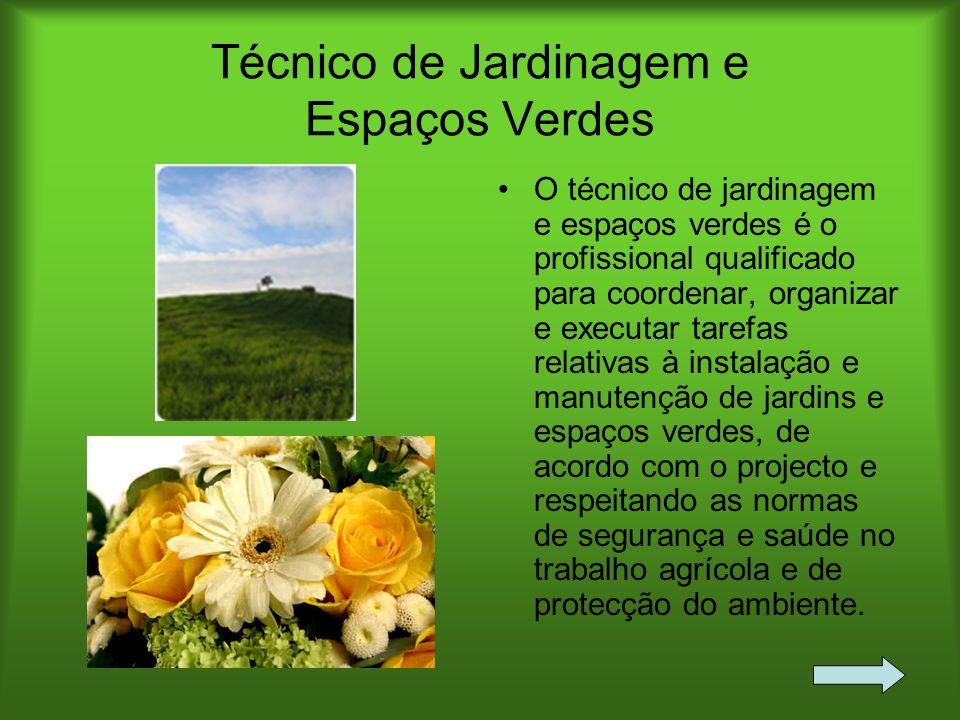 Técnico de Jardinagem e Espaços Verdes