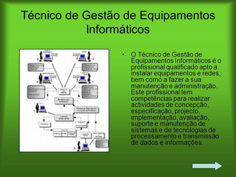 Técnico de Gestão de Equipamentos Informáticos