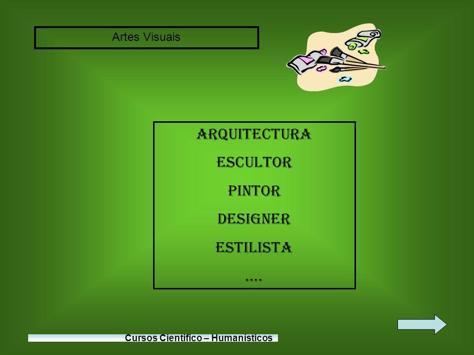 Arquitectura Escultor Pintor Designer Estilista .... Artes Visuais