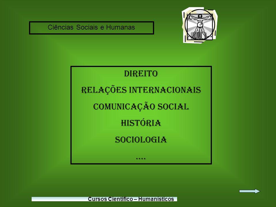 Relações Internacionais Comunicação Social História Sociologia ....