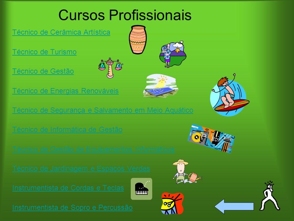 Cursos Profissionais Técnico de Cerâmica Artística Técnico de Turismo