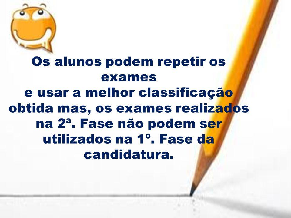 Os alunos podem repetir os exames