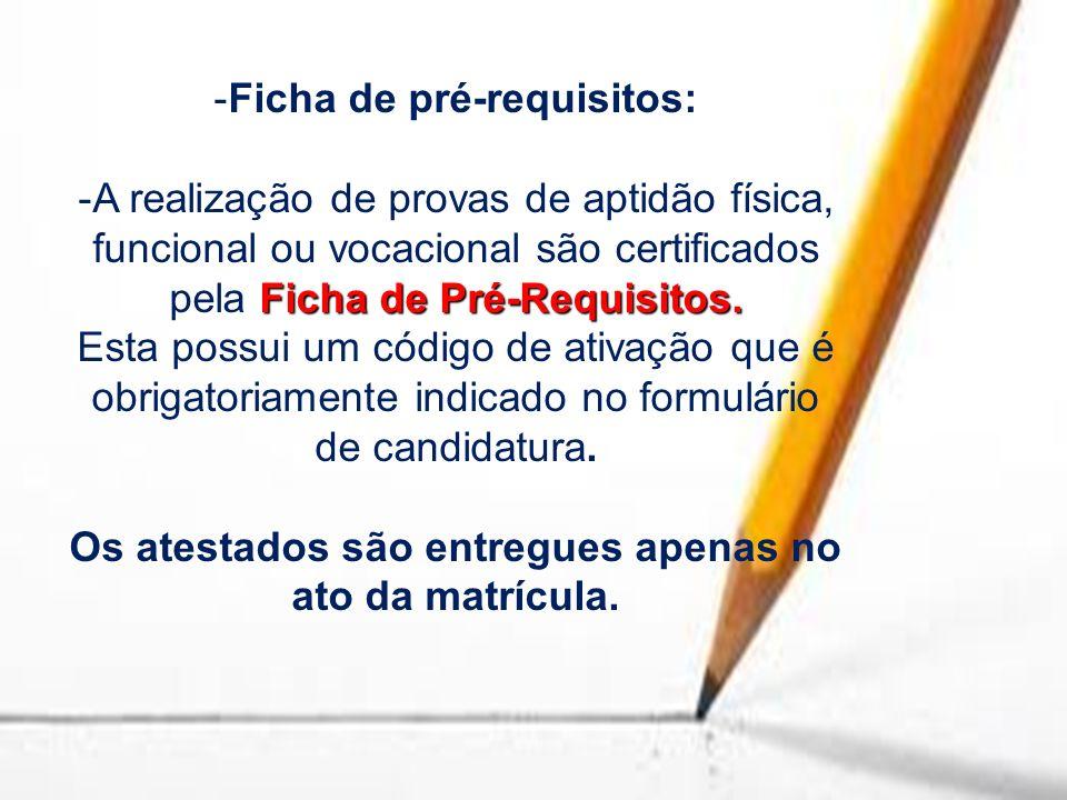 Ficha de pré-requisitos:
