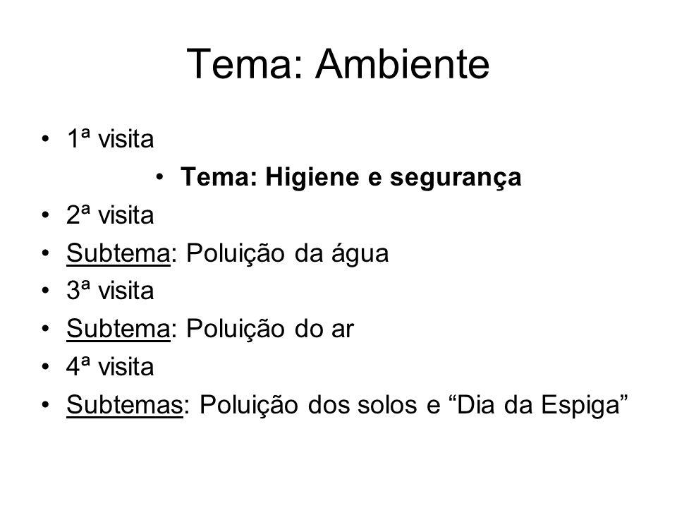 Tema: Higiene e segurança