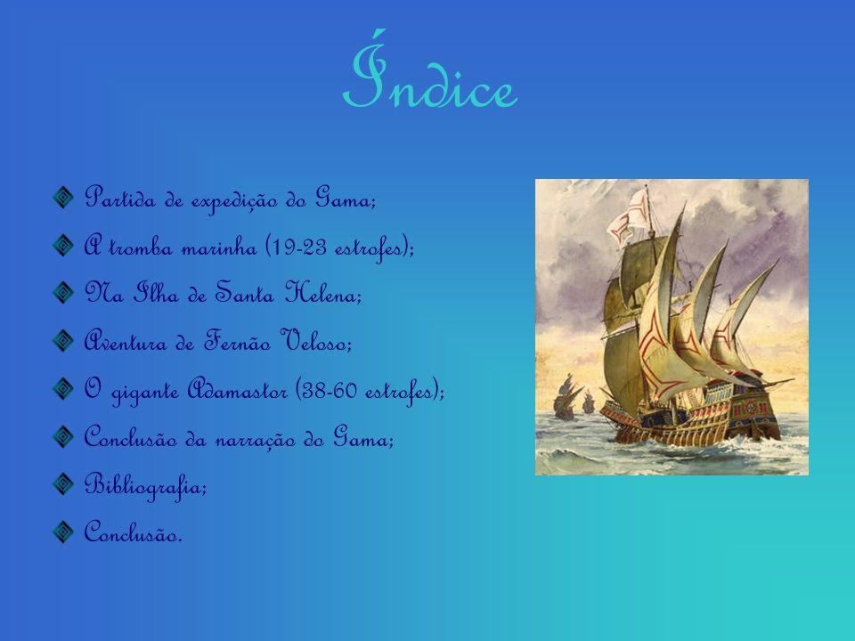 Índice Partida de expedição do Gama;