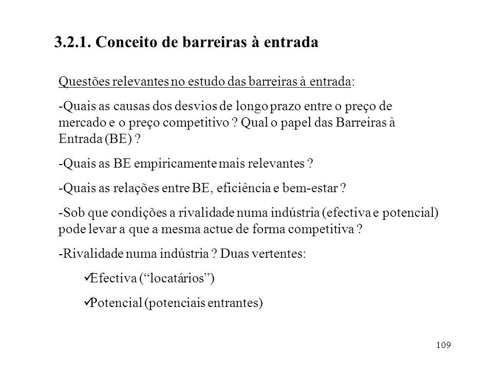 3.2.1. Conceito de barreiras à entrada