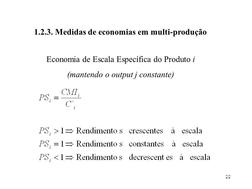 1.2.3. Medidas de economias em multi-produção