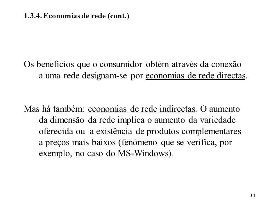 1.3.4. Economias de rede (cont.)