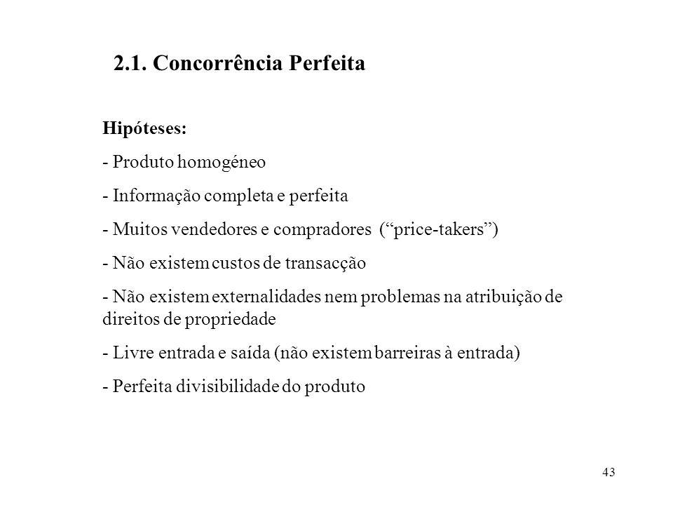 2.1. Concorrência Perfeita