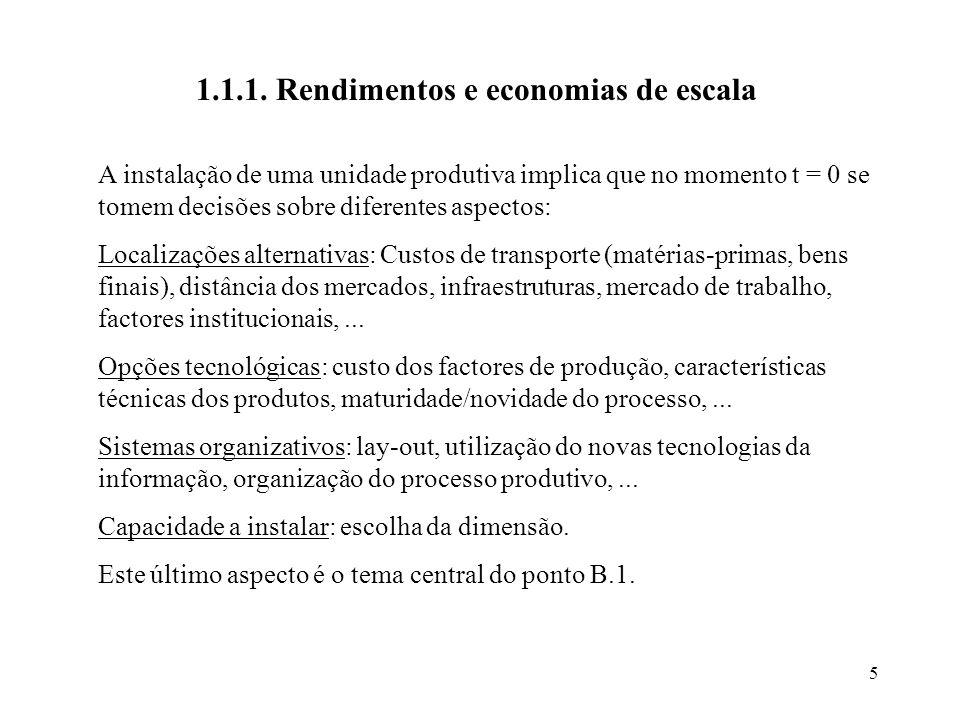 1.1.1. Rendimentos e economias de escala