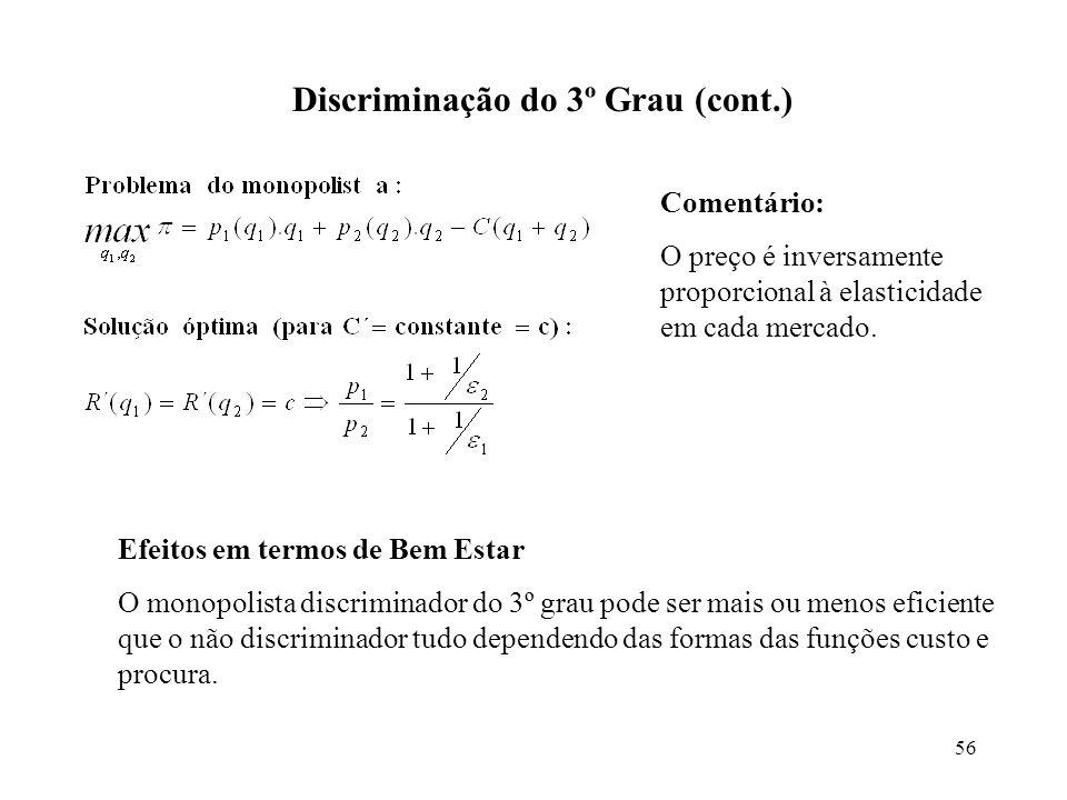 Discriminação do 3º Grau (cont.)