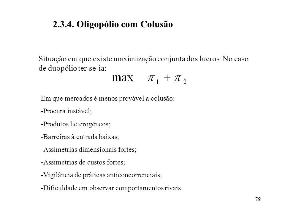 2.3.4. Oligopólio com Colusão