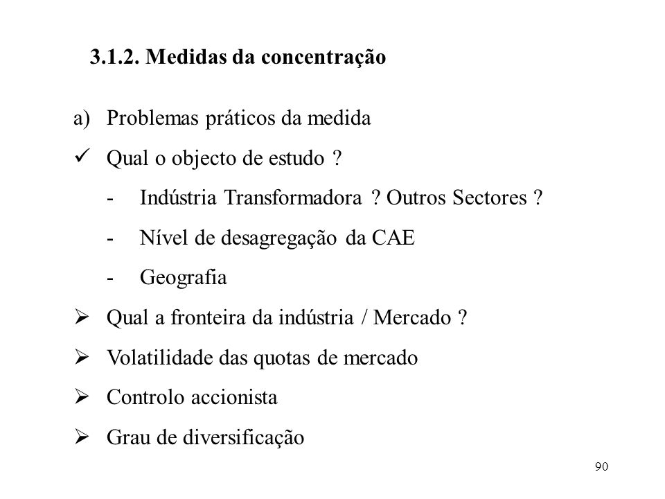 3.1.2. Medidas da concentração