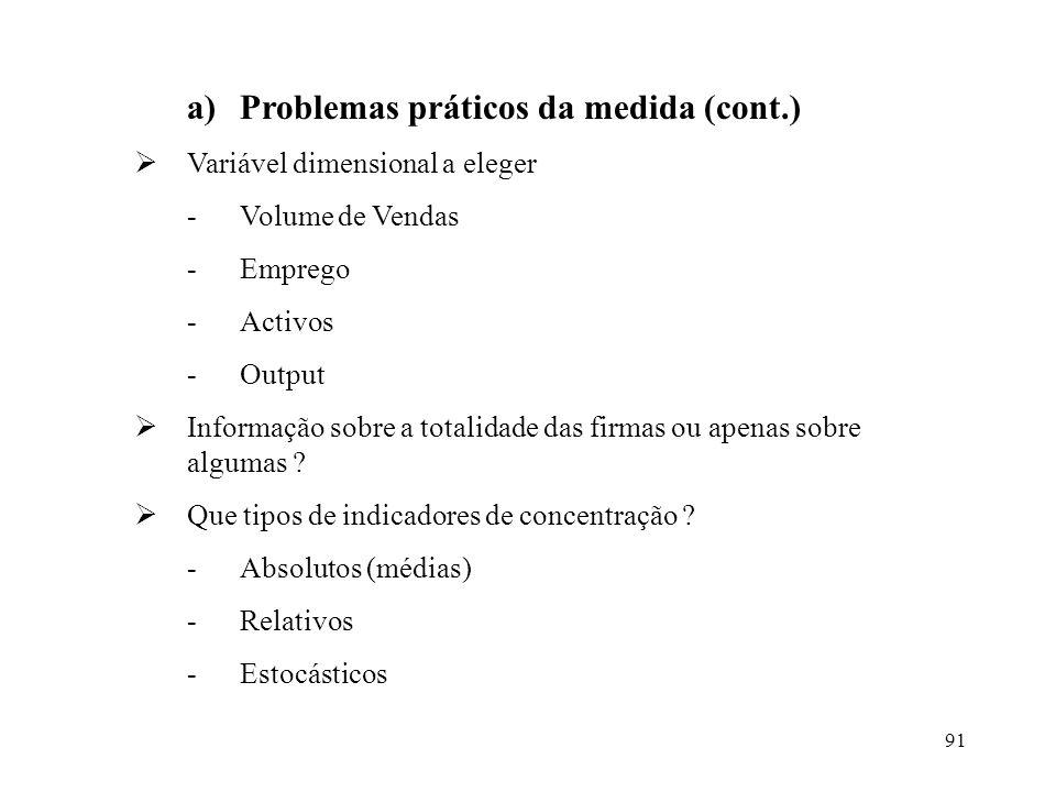 Problemas práticos da medida (cont.)