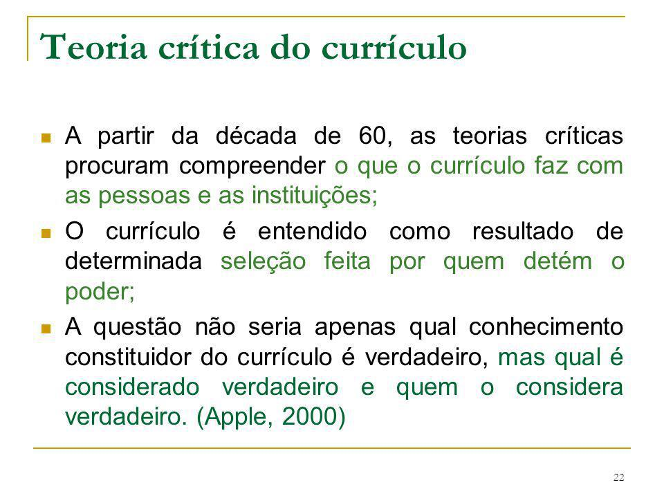 Teoria crítica do currículo