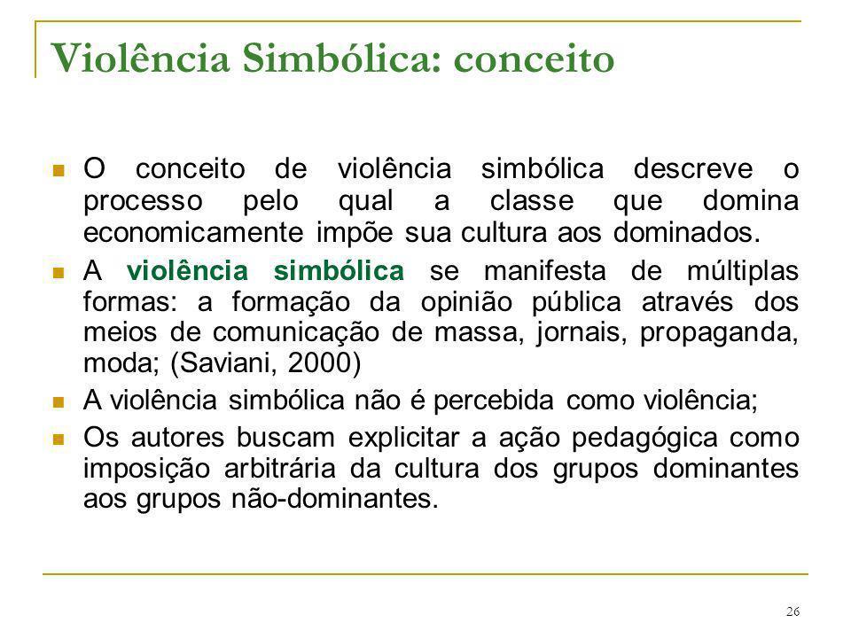 Violência Simbólica: conceito