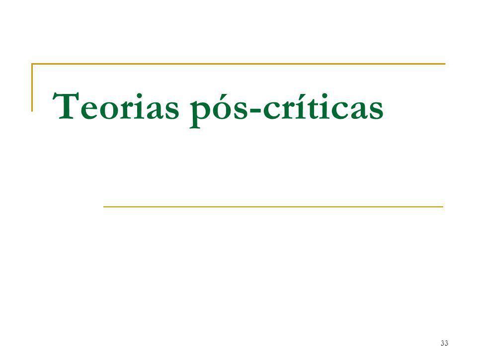 Teorias pós-críticas