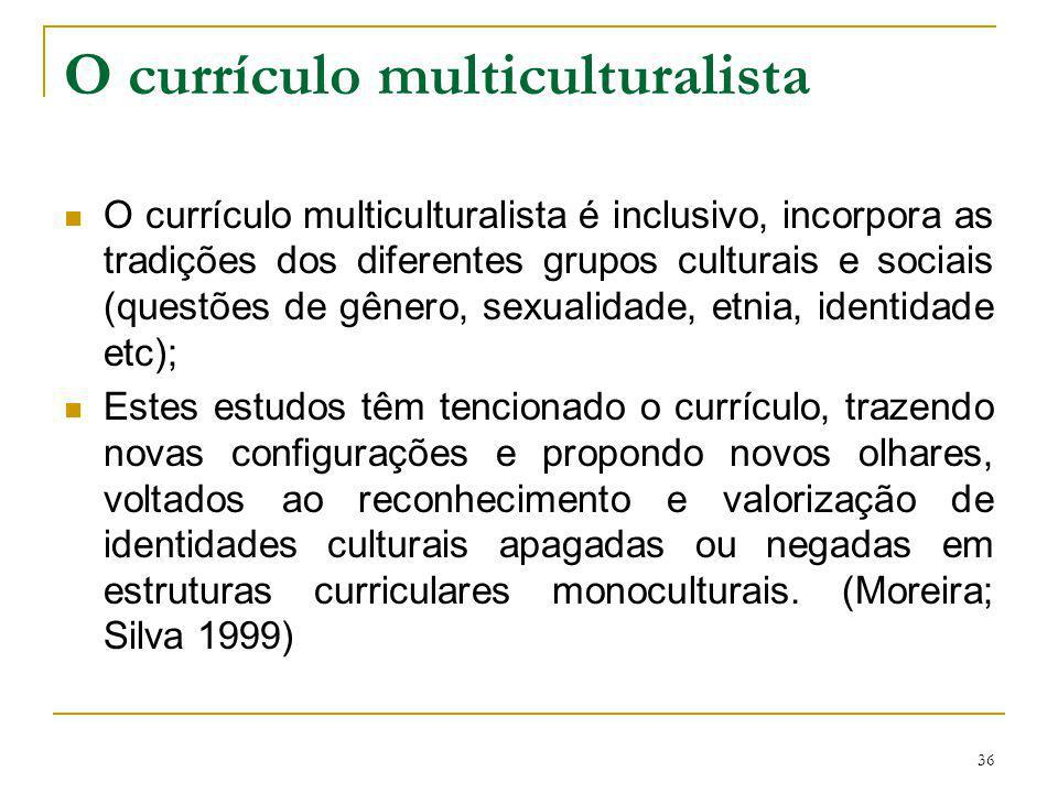 O currículo multiculturalista