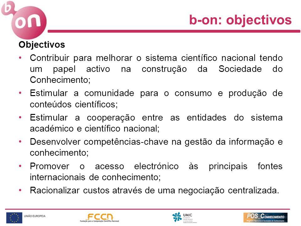 b-on: objectivos Objectivos