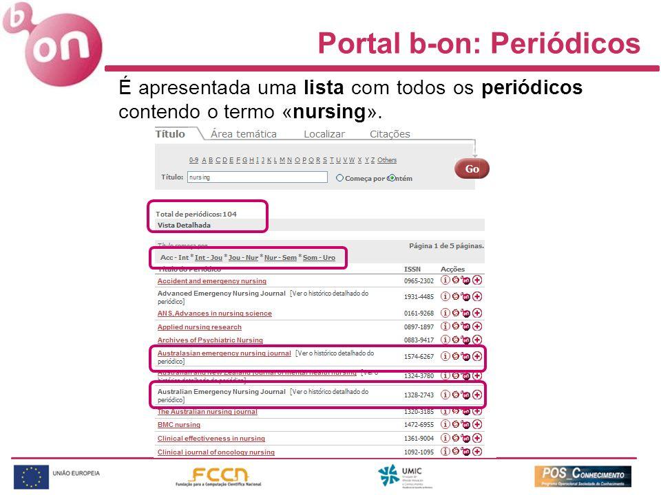 Portal b-on: Periódicos