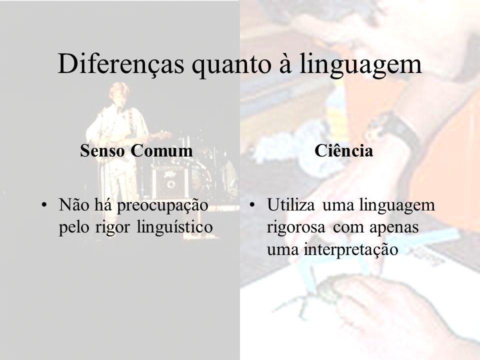 Diferenças quanto à linguagem