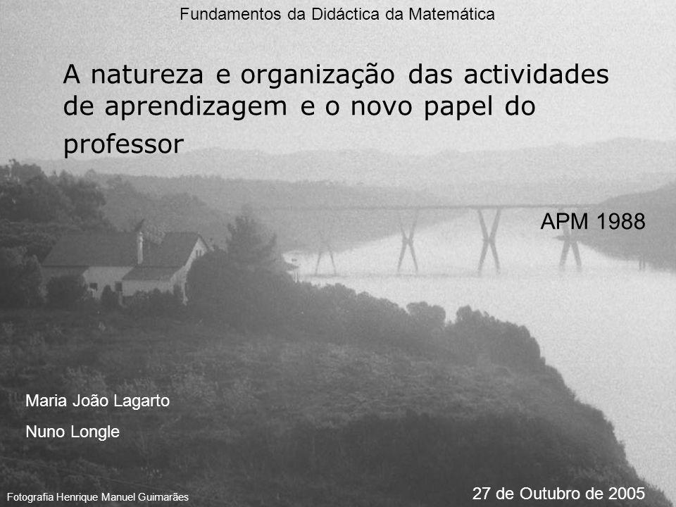 Fundamentos da Didáctica da Matemática