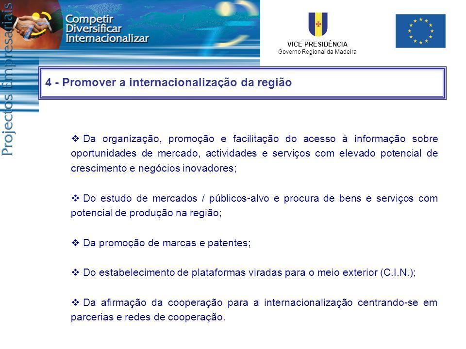 4 - Promover a internacionalização da região
