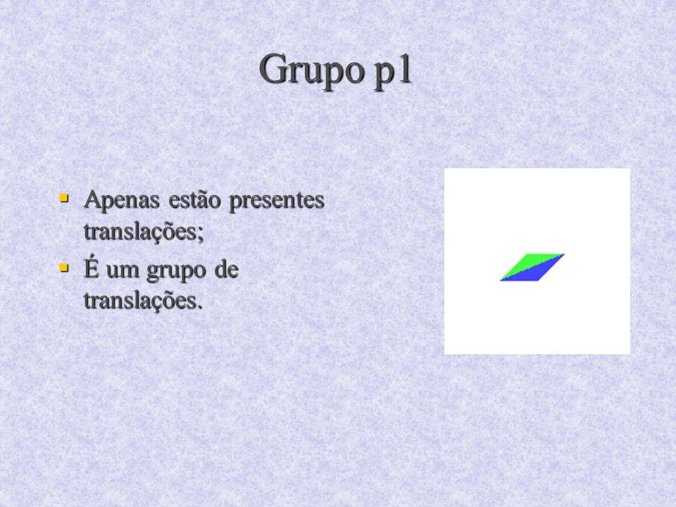 Grupo p1 Apenas estão presentes translações;