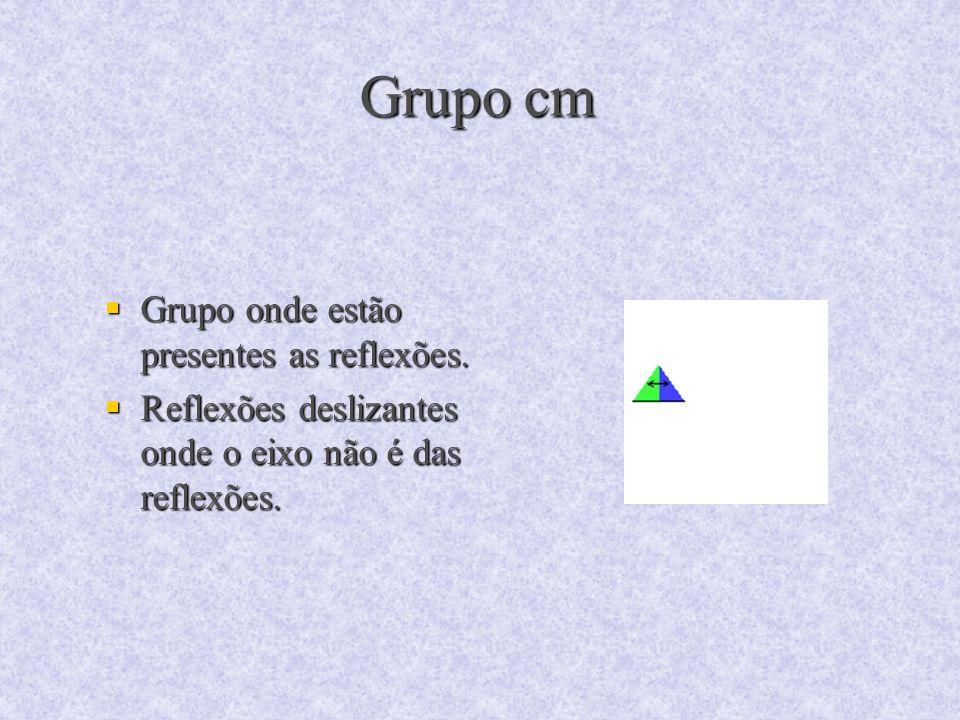 Grupo cm Grupo onde estão presentes as reflexões.