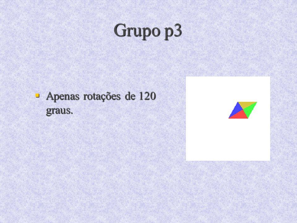 Grupo p3 Apenas rotações de 120 graus.